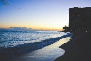 Waikiki during sunset