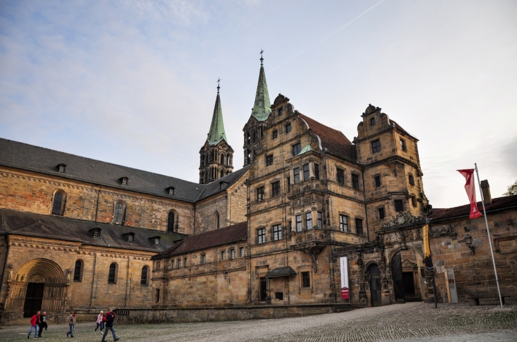 Bamberg Cathedral and entrance to the Old Court