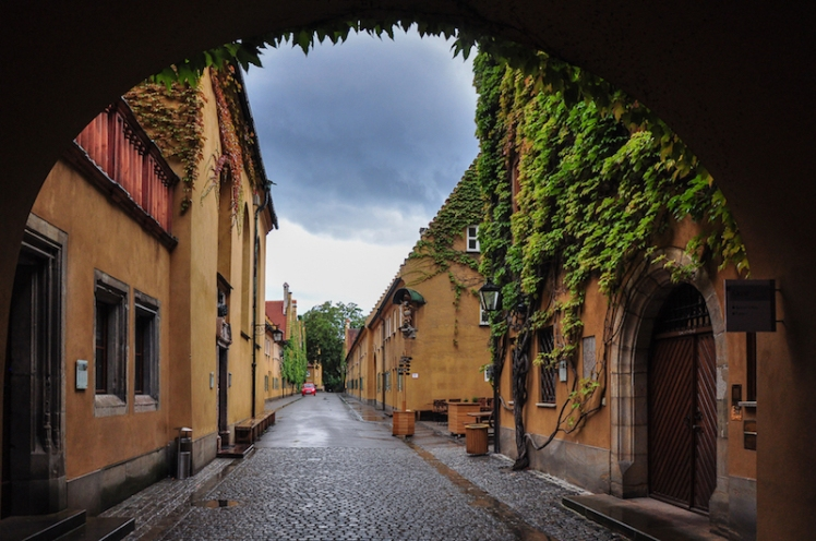 Entrance to the Fuggerei in Augsburg